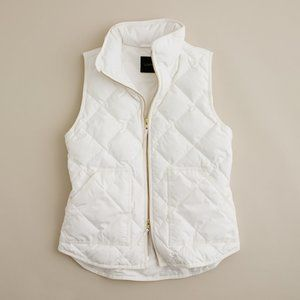 J. Crew Excursion Quilted Puffer Vest Ivory